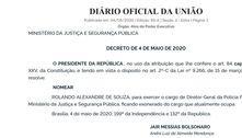 Bolsonaro indica Rolando Alexandre de Souza para chefiar PF