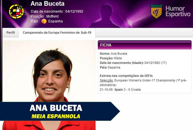 Nomes curiosos do mundo esportivo: Ana Buceta