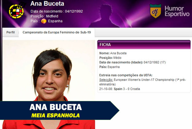 Nomes inusitados do esporte: Ana Buceta