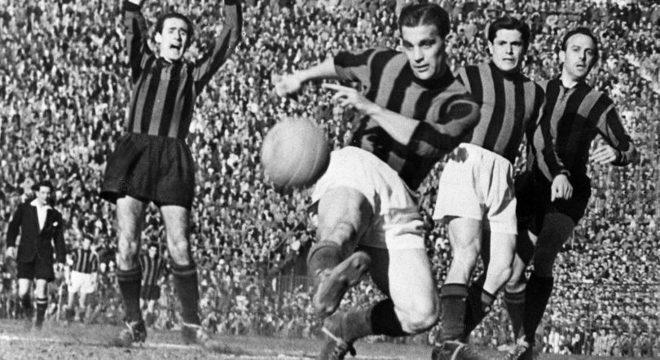 """Nordahl, o """"tanque"""" do Milan entre 1949 e 1951"""