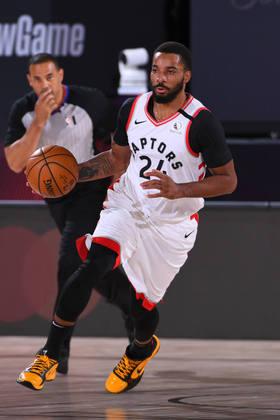 Norman Powell (Toronto Raptors) 4,5 - Pouco acionado, Powell obteve seis pontos e três rebotes em 16 minutos de ação
