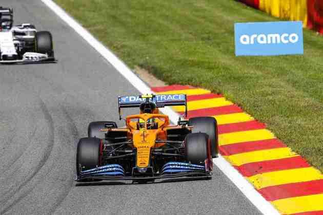 Norris comemorou o bom desempenho do carro ao longo da etapa belga