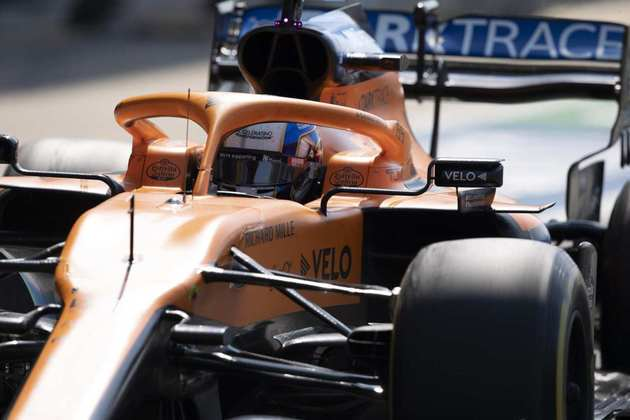 Norris ganhou uma posição em relação ao grid de largada