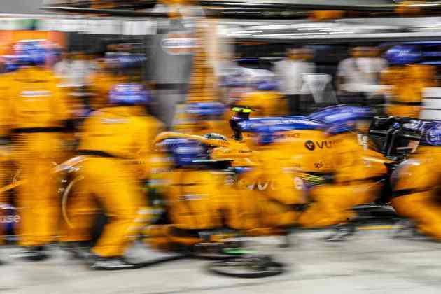 Norris não ficava entre os quatro primeiros desde o GP da Itália.