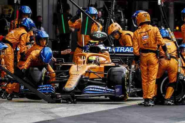 Norris precisou ir aos boxes e perdeu muito tempo durante o GP de Portugal