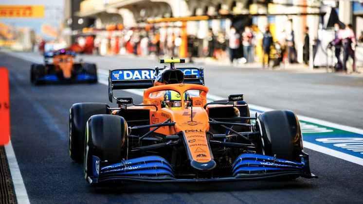 Norris vive a expectativa de se manter à frente de Carlos Sainz.