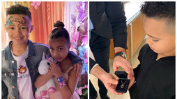 Aos cinco anos, filha de Kim Kardashian ganha joia de presente do namorado ()