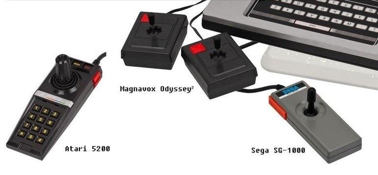 Nos anos 1970, a era joystick ficou marcada principalmente pelo controle do Atari.