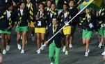 Nos Jogos Olímpicos de Londres, em 2012, Rodrigo Pessoa liderou a delegação brasileira. O porta-bandeira conquistou três medalhas no hipismo, com destaque para o ouro em Atenas 2004.