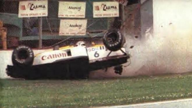 Nos treinos para o GP de San Marino de 1987, Nelson Piquet sofreu um forte acidente que mudou sua carreira. Apesar da pancada, o brasileiro voltou na corrida seguinte e levou o título daquele ano