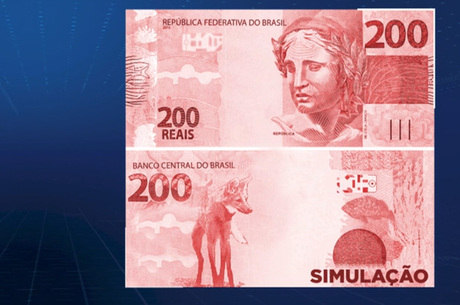 Simulação da nota de R$ 200 que deve começar a circular
