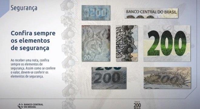 Veja elementos de segurança da nota de R$ 200