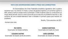 Governadores contestam Lira e Bolsonaro sobre ICMS