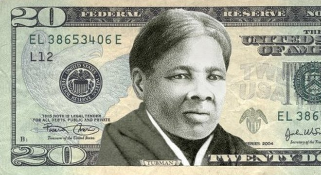 Nota inventada com a figura de Tubman; secretário do Tesouro afirmou que prioridade é fazer com que a nota seja segura contra falsificações