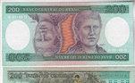 Nota de 200 cruzeiros, na segunda fase da moeda, de 1970 a 1986