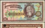 Nota de 200 mil réis de 1936, com a imagem de Saldanha Marinho