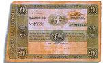 Cédula de 200.000 réis, de 1856, emitida pelo Tesouro Nacional