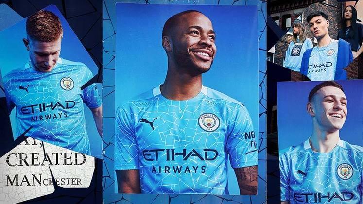 Nova camisa 1 do Manchester City