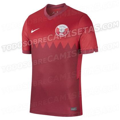 Nova camisa 1 do Qatar