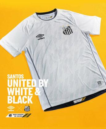 Completando 109 anos nesta quarta-feira, o Santos lançou suas novas camisas 1 e 2, que vestirão o time ao longo de 2021 e no início da temporada 2022. As camisas, assinadas pela Umbro, levam grafismos de