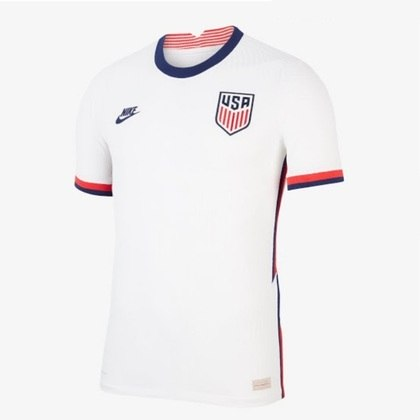 Nova camisa 1 dos Estados Unidos - Uniforme lançado em 6 de fevereiro, mas ainda não utilizado em campo.