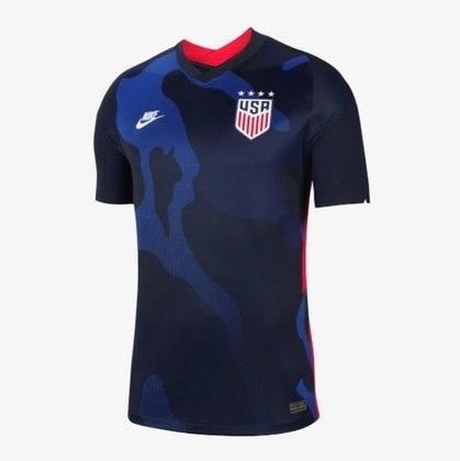 Nova camisa 2 dos Estados Unidos - Uniforme lançado em 6 de fevereiro, mas ainda não utilizado em campo.