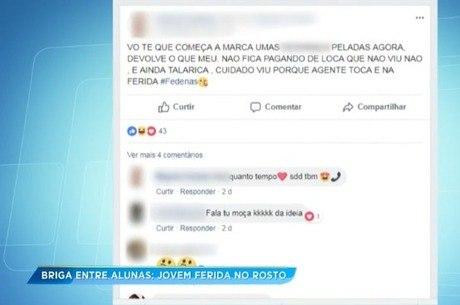 Desavença entre garotas foi parar numa rede social