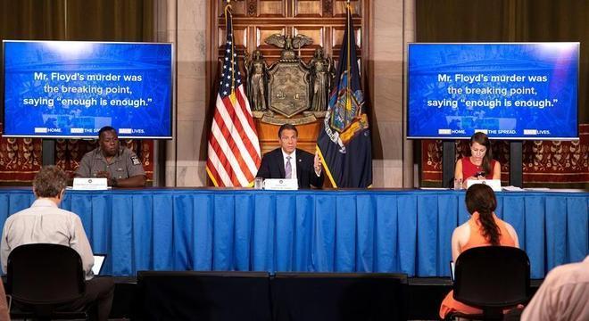 NY registra número menor de mortes por covid-19 e pediu cautela em protestos