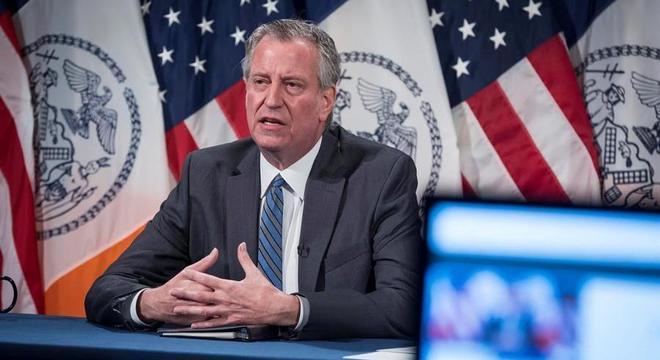 Bill de Blasio, prefeito de NY, pediu que manifestantes protestem sem correr riscos