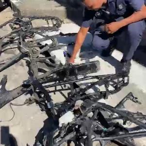 Chassis de motos possivelmente roubadas  são encontrados em Carapicuíba (SP)