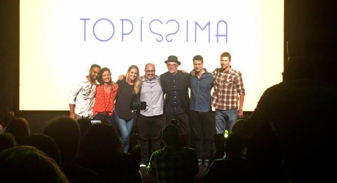 Rudi Lagemann e os outros diretores da novela Topíssima