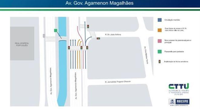 Novo esquema de trânsito na Agamenon Magalhães