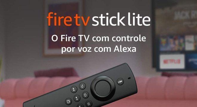 Novo Fire TV Stick Lite com Controle Remoto Modelo 2020 por apenas R$236,55