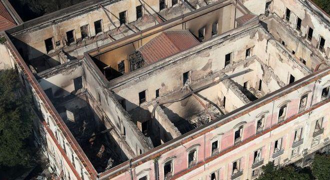 Museu Nacional foi consumido por um incêndio  no dia 02 de setembro deste ano