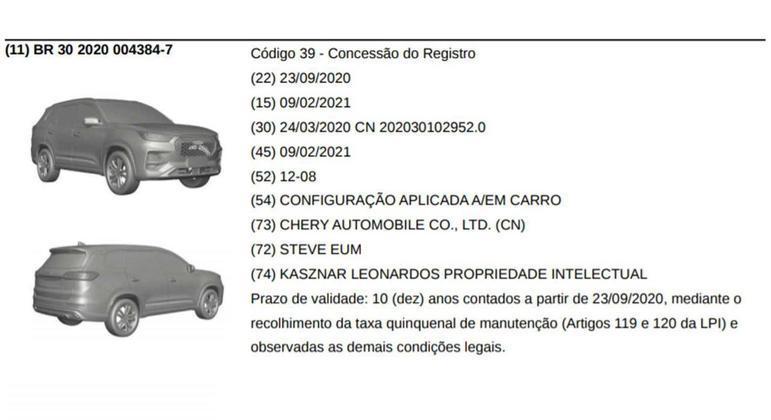 No mercado chinês modelo tem conjunto de nove airbags