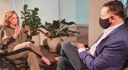 Núbia Olivier em entrevista ao Roberto Cabrini
