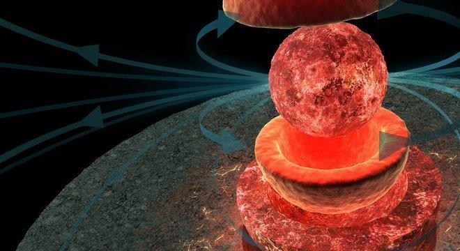 Quando a Lua era 'jovem', a gravidade da Terra agitava seu núcleo o que gerava seu campo magnético Cavando entre as rochas