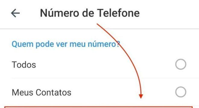 Numero de Telefone no Telegram (Imagem: Reprodução / Android)