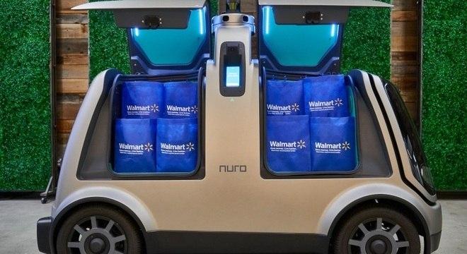 Modelo R2 , veiculo autônomo da empresa Nuro