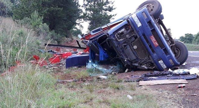 O acidente aconteceu nesta manhã no trecho de Carazinho Crédito: Nathan Schultz / Diário da Manhã / CP