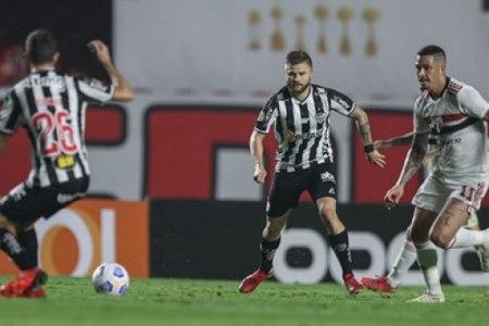 Veja os melhores momentos do empate entre Galo e São Paulo pelo Brasileirão, no Morumbi