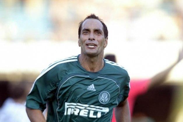 O Animal, como ficou conhecido, também teve mais de uma passagem pelo Palmeiras. A primeira delas aconteceu entre 1993 e 1995. Já o retorno foi no ano de 2006.