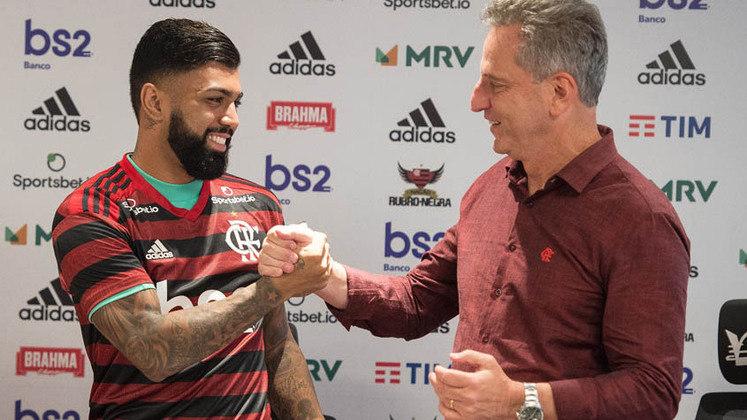 O ano de 2021 será o terceiro e último ano do atual mandato do presidente Rodolfo Landim. A gestão assumiu o comando do clube em 2019 e, em meio às vitórias e títulos, fez grandes investimentos no elenco. Confira, na galeria, as 19 contratações feitas pelo Flamengo neste período!