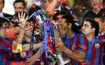 o ano seguinte, Ronaldinho ganhou seu primeiro e único título de Liga dos Campeões contra o Arsenal. O gol da partida foi marcado por outro brasileiro: Belleti