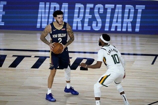 O armador Lonzo Ball (New Orleans Pelicans) foi muito bem marcado por Mike Conley (Utah Jazz) e converteu somente dois de seus 13 arremessos na primeira partida de volta da NBA. Ball terminou com quatro pontos, sete assistências e seis rebotes em 27 minutos de ação. O Pelicans