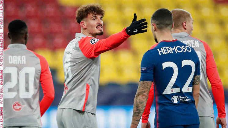 O artilheiro alemão na Liga dos Campeões é Mergin Berisha, que atua no RB Salzburg, possuindo quatro gols na conta.
