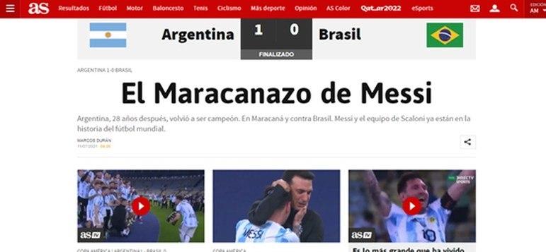O AS destacou o Maracanazo e o seu principal destaque: Lionel Messi.