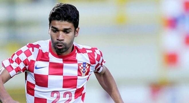 O atacante Eduardo da Silva era uma das referências da Croácia e até atuou na Copa do Mundo no Brasil. Pela seleção croata, foram 64 partidas e 29 gols marcados. (Reprodução)