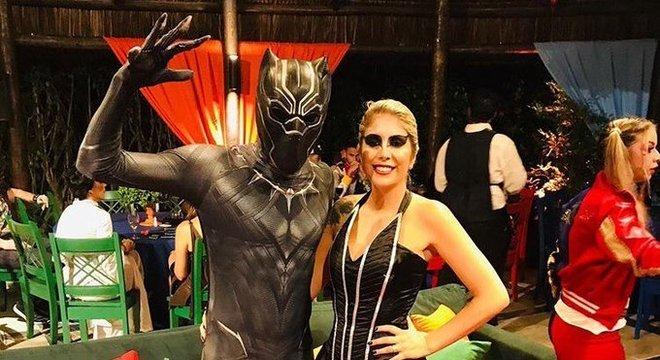 O atacante Pedro Rocha compareceu vestido de Pantera Negra.