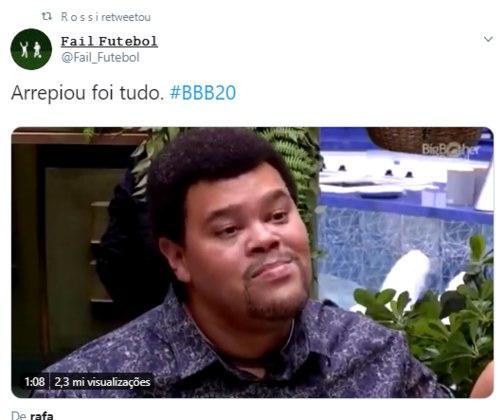 O atacante Rossi, do Bahia, assim como outros atletas, retuitou o vídeo que mostra a comemoração de Babu pela permanência no BBB após o paredão que eliminou Pyong Lee.